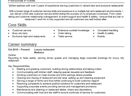 waitressing cv professional resume templates waitress or waiter cv example with