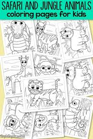 Encourage children to color by providing lots of access to coloring pages and crayons. Safari And Jungle Animals Coloring Pages For Kids Itsybitsyfun Com
