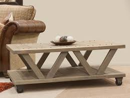 industrial look 2 tier coffee table