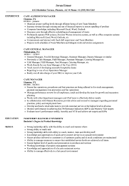 Ideas Of Resume Cafe Manager Cafe Manager Sample Resume
