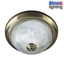 details about searchlight 4370 american diner antique brass bathroom light clear ribbed glass