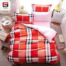 um image for red gingham duvet cover double red and black plaid flannel duvet cover sookie