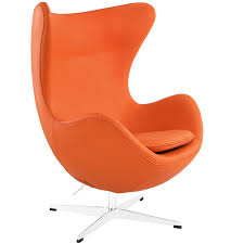 magnum orange leather accent chair 461x614 magnum leather chair modern furniture brickell collection