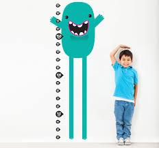 Monster Height Chart Teal Monster Height Chart Sticker