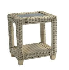 wicker lamp table white wicker table lamp shade