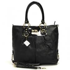 Coach Logo Monogram Large Black Totes BNJ