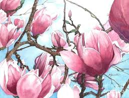 magnolia flower painting flowers painting march magnolia by magnolia flower acrylic painting magnolia flower painting