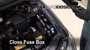 blown fuse check 2000 2006 mazda mpv 2006 mazda mpv lx 3 0l v6 2001 Mazda Mpv Fuse Diagram 6 replace cover secure the cover and test component 2001 mazda mpv wiring diagram