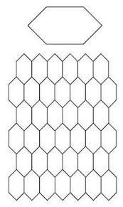 English Paper Piecing | Threadbenders Quilt Shop | English Paper ... & Free English Paper Piecing elongated hexagons or 'Honeycomb' Pattern Adamdwight.com