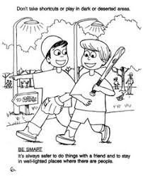 Small Picture stranger safety coloring page Printable Coloring Pages Stranger
