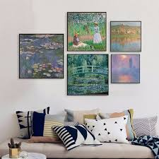claude monet painting reproduction famous artist oil painting for living room decoration canvas prints wall art on famous wall art prints with claude monet painting reproduction famous artist oil painting for