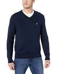 Nautica Mens V Neck Sweater Amazon Co Uk Clothing