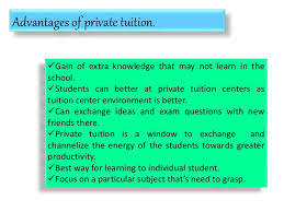 private tuition 4 advantages of private tuition