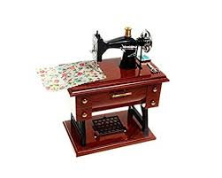 Musical Sewing Machine Music Box Vintage Look
