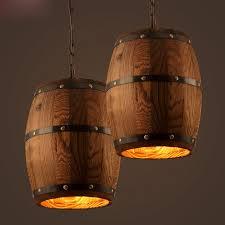 wood pendant lighting. Vintage Wooden Barrel Pendant Lamp Loft Style Hanging Creative Wood Light Bar Lighting R