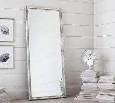 bamboo floor mirror standing mirror