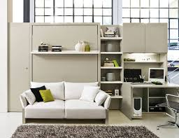 view in gallery murphy bed with sofa and a desk for the home workstation