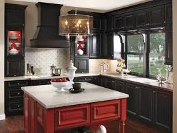 Red And Black Kitchen Cabinets Drawer Red Mixer White Kitchen Appliances Black