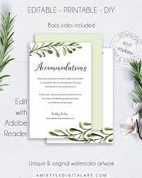 Accommodation Pdf Wedding Insert Enclosure Card Wedding Details