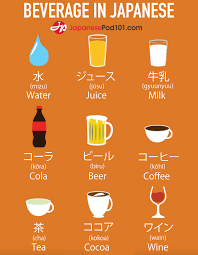 Drinks words in Japanese! Totally FREE Japanese lessons online at ...