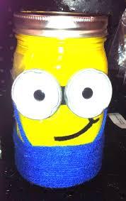 pint size mason minion.....made with mason jar, yellow acrylic