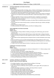 Sample Resume For Experienced Embedded Engineer Embedded Systems Engineer Resume Samples Velvet Jobs 10