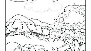 Days Of Creation Coloring Pages Free Beautiful Days Creation