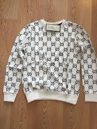 Gucci Men S Shirt Size Chart Long Sleeve Gucci Gg Design Womens Cotton Sweatshirt Size