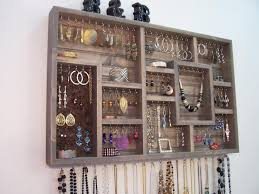 Image of: Wall Mounted Jewelry Organizer Storage