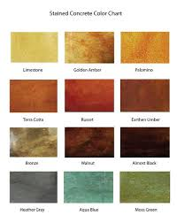 Kemiko Color Chart Kemiko Color Chart Stained Concrete Concrete Stain Colors