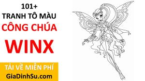 MIỄN PHÍ] tải 101+ hình tô màu công chúa Winx cho bé - Công chúa Phép thuật  - tại Giadinhsu.com - Dạy vẽ tranh và tô màu đơn giản cho bé -