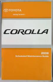 2008 Toyota Corolla Owners Manual Guide Book | Bashful Yak
