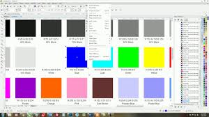 Blue Color Swatch Chart How To Use Coreldraw To Build A Color Swatch Chart