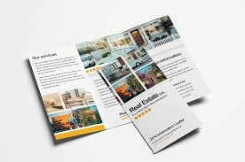 Ebrochure Template Free Real Estate Trifold Brochure Template In Psd Ai