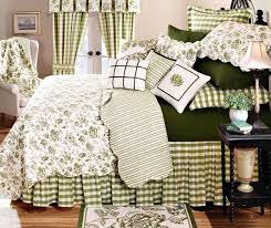 Toile Quilts And Comforters – co-nnect.me & ... Toile Quilts And Comforters French Country Toile Bedding Country House  Moss Green And White Toile Quilt ... Adamdwight.com