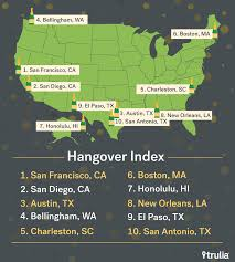 most hungover cities finance trulia most hungover cities ranking