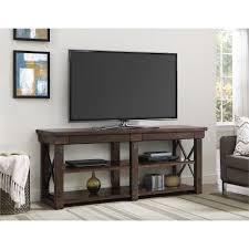 Ameriwood Home Wildwood Mahogany Veneer 65inch TV Stand 65inch Stand  Mahogany Black Black 65 Inch Tv Stand K16