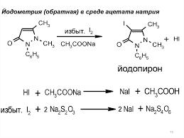 Лек сем Карп online presentation Йодометрия обратная в среде ацетата натрия