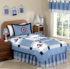 blue nautical childrens bedding twin full queen comforter sets sailboats lighthouse