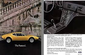 regress press llc automobile catalogs betweenand ford 1973 ghia pantera l s brochure