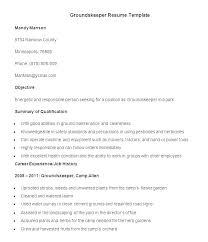 Maintenance Resume Examples Amazing Groundskeeper Resume Sample Kappalab
