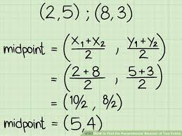 image titled find the perpendicular bisector of two points step 1