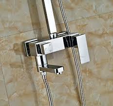 12 rain shower head led color inch rain shower faucet tub spout with led handheld sprayer