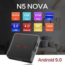 Android Tivi Box Magicsee N5 Nova - Ram 4GB. Rom 32GB, Android 9.0 - Điều  khiển Voice search
