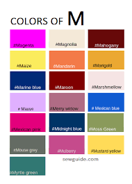 color names in fashion design an easy