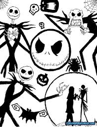 Nightmare Before Christmas Coloring Pages Raovat24hinfo