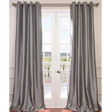bayley faux silk taffeta blackout grommet single curtain panel