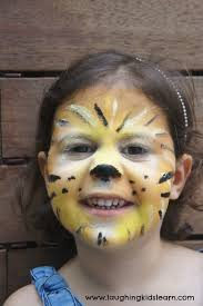 simple lion face painting