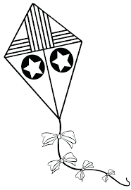 Kite Coloring Page