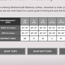 Maternity Pants Size Chart Maternity Jeans